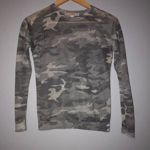 Ann Taylor Loft || Sheer Camo Long-sleeve